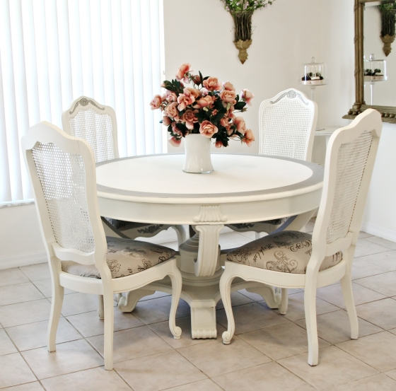 Shabby Chic Dining Room Table | 560 x 554 · 195 kB · jpeg